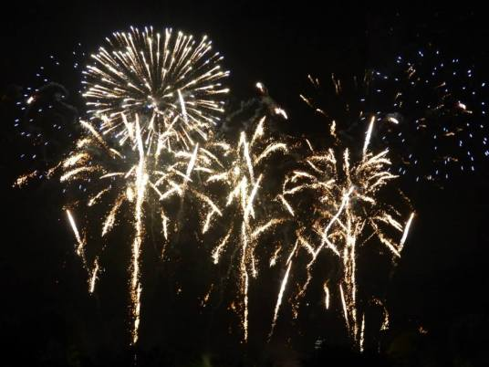 Fuegos artificiales en Battersea Park