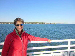 On the trip of my dreams, with Martha's Vineyard in the background.