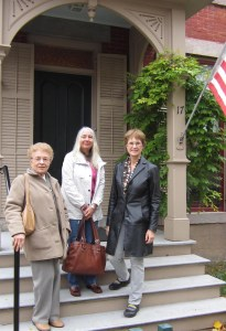 Connie and Jinnie visit the Susan B. Anthony House in Rochester with Jeanne Gehret