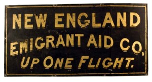 Emigrant Aid sign