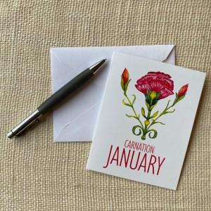 Birth Month Greeting Cards