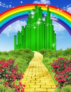 http://www.dreamstime.com/stock-photos-rainbow-over-yellow-brick-road-illustration-way-to-emerald-city-flowers-plants-to-left-right-image35011613