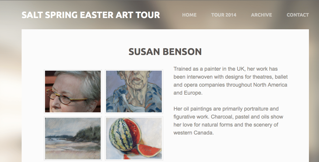 2014 Easter Art Tour, Salt Spring Island