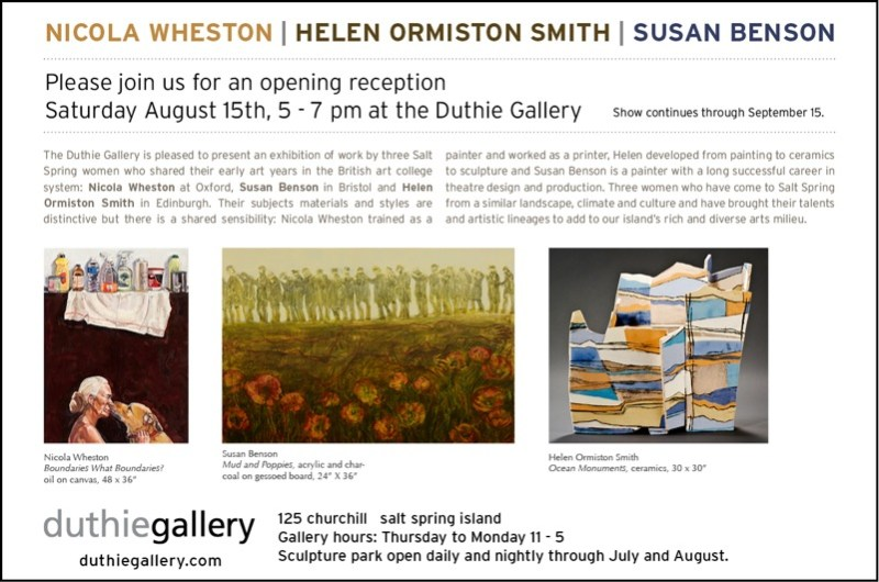 Three Women, Duthie Gallery, Salt Spring Island, BC