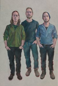 "BRYN'S SONS, 30""x24"" oil on canvas"