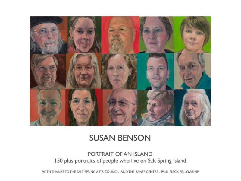 Initial poster for portraits, Salt Spring Island Mahon Gallery for 2018