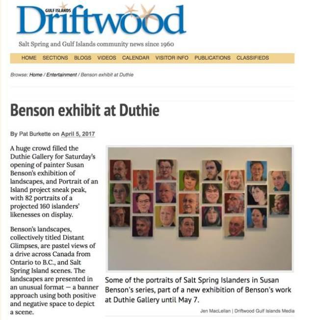 Benson exhibit at Duthie