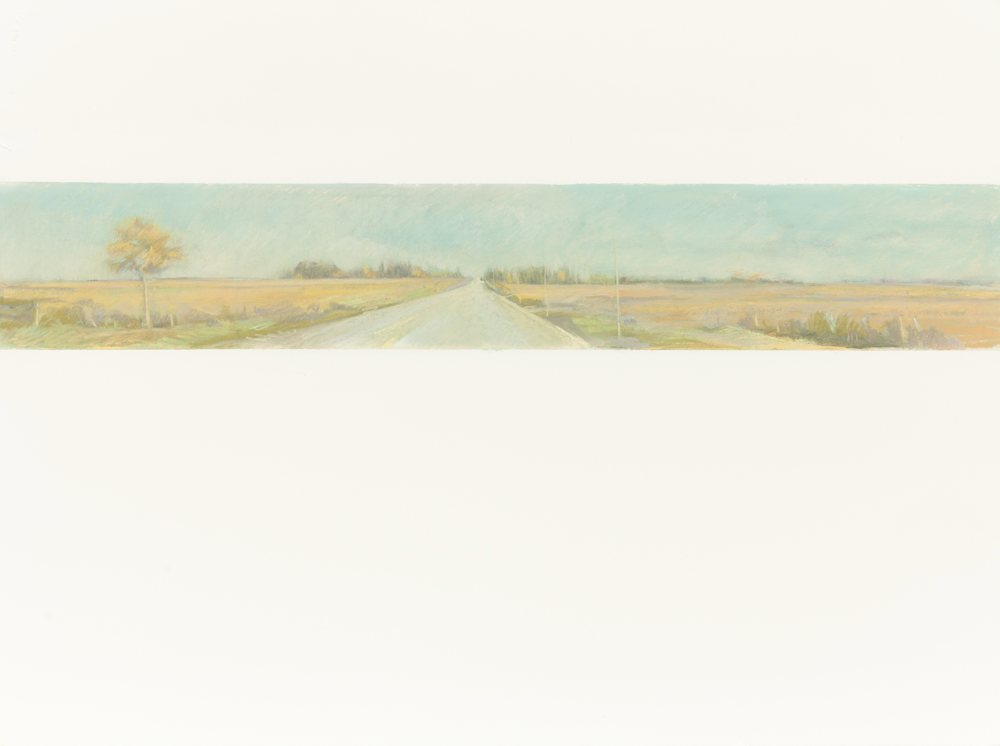 Ontario Roads, 22.5x30 pastels on Arches Paper