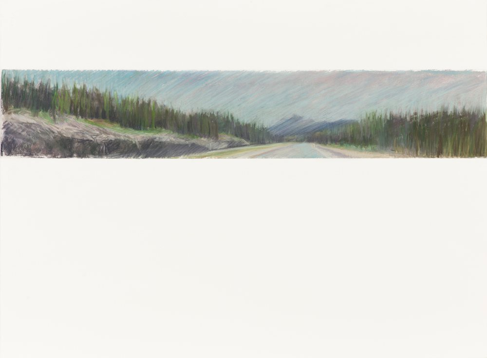 MOUNTAIN ROAD, 22.5x30 pastel on Arches paper