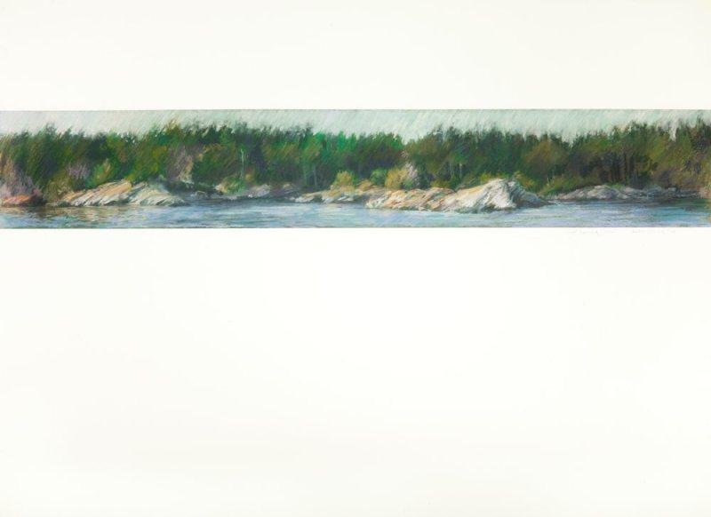 COASTLINE pastel on arches paper 22.5 X 30 pastel on arches paper 22.5 X 30