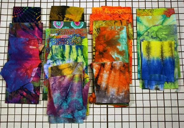 Tie-Dye fabrics.