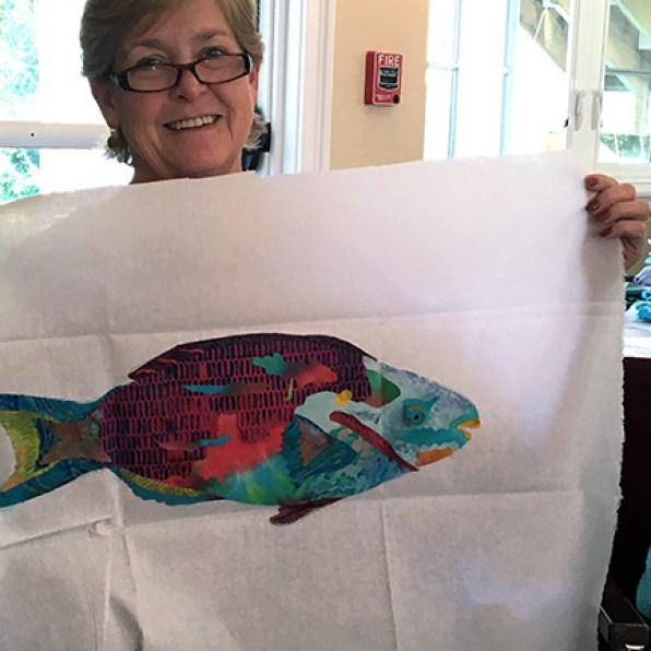 Another fish from a previous class by Janet Coggins.