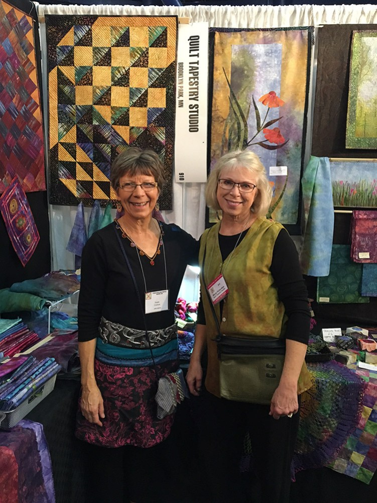 """In her booth on the market side of the Festival, I got to meet Wendy Richardson who had dyed some of the beautiful fabric I used in the background of """"Crocodylus Smylus"""". I happened to find just a few more pieces to add to a future project!"""