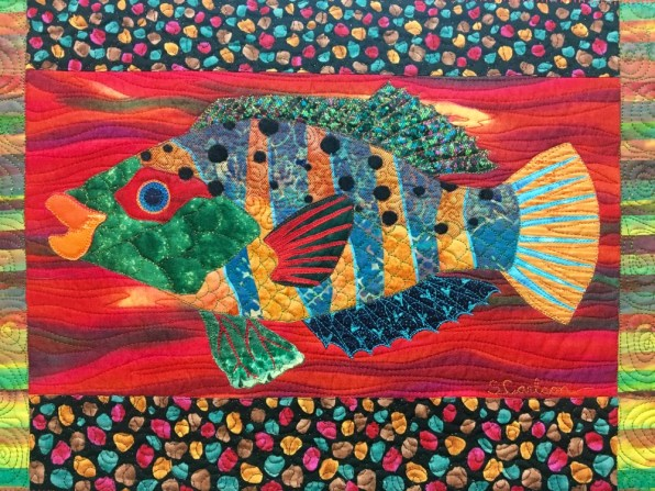 free motion quilting on fabric collage quilts susan carlson quilts