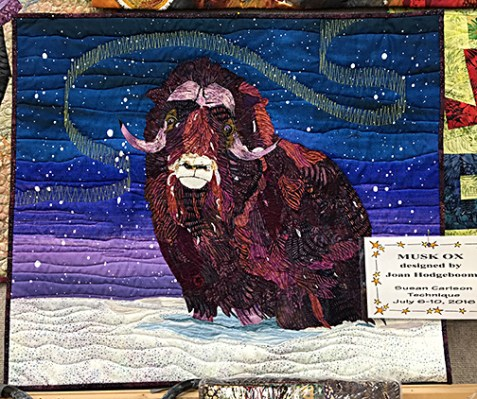 Last year's class project, Joan's arctic musk ox.