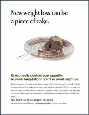 Ad with unappetizing moldy cake