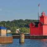 Biog Red lighthouses holland-harbor-lake-michigan