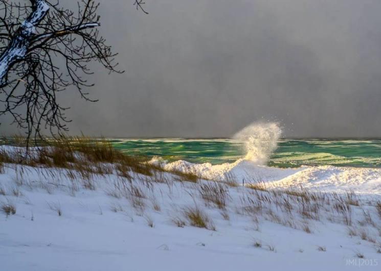 Lake MI winter