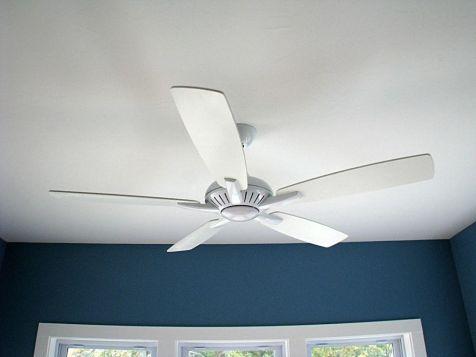 Ceiling fan in 4-season room