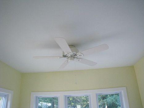 Ceiling fan option in 4-season room