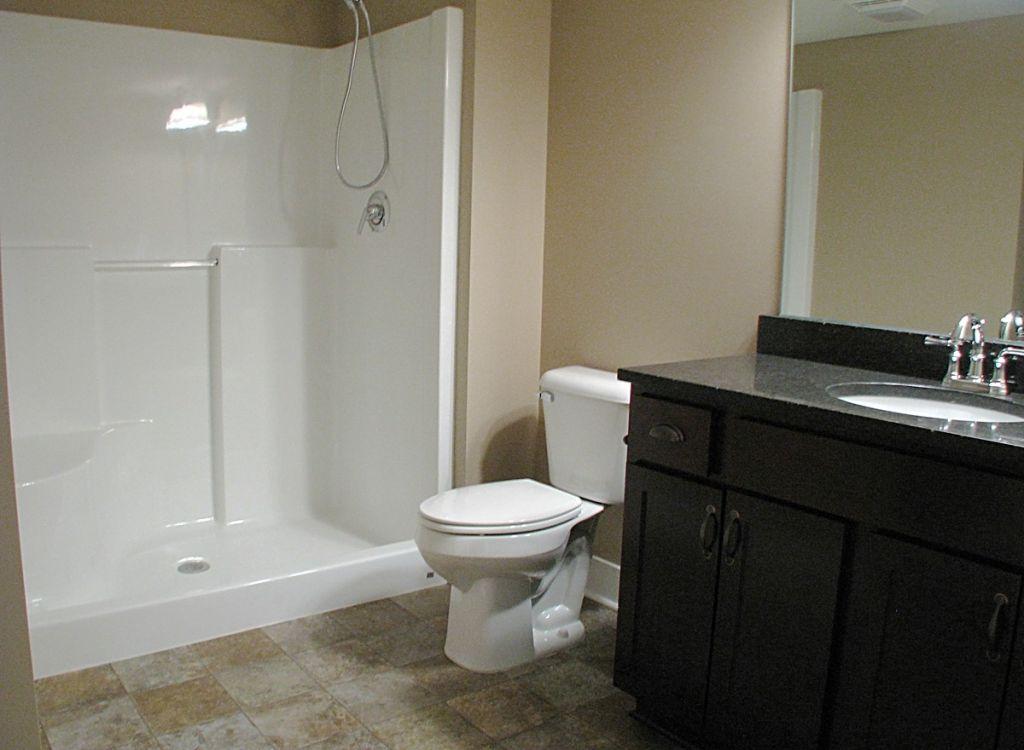 Lower Level Bathroom at Sawgrass Condos in Holland, MI