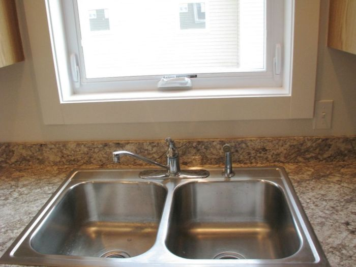 2444 Kitchen double stainless steel sink with standard faucet