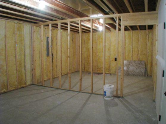 244 lower level unfinished storage area