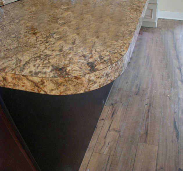 Kitchen center island with laminate counter