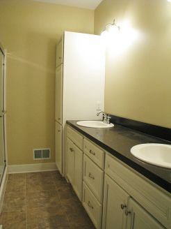 2502 Master bath with linen closet at end of vanity