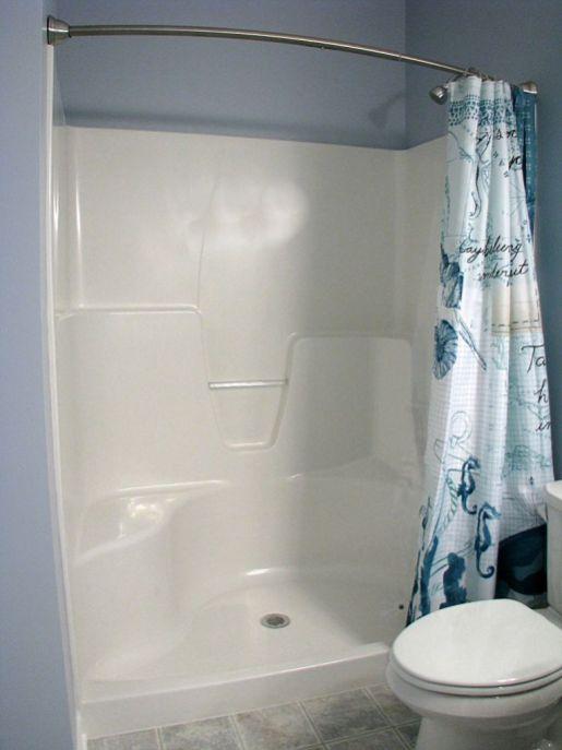 2437 Master bath walk-in one piece shower
