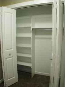 2506 Lower level storage closet with organizers