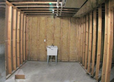 2506 Lower level unfinished storage room with wash tub