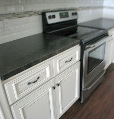 2419 Kitchen cabinets. flat surface stove