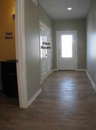 Foyer with laminate flooring