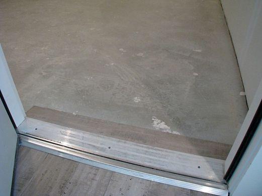 Floor from back door to garage