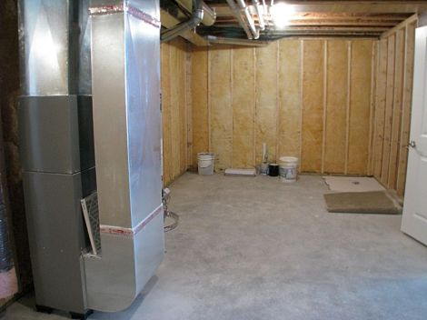 Lower level storage and mechanical room
