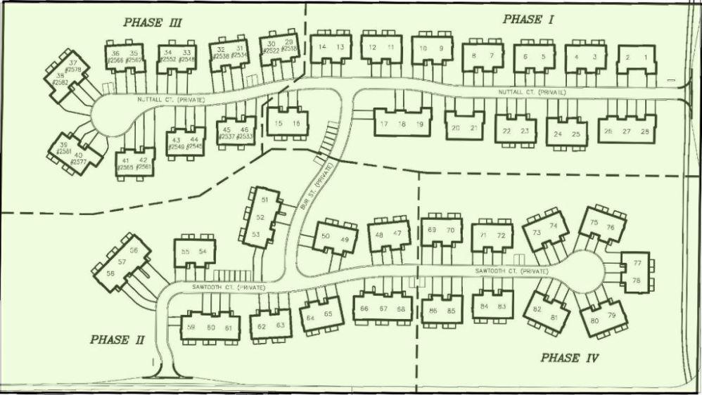 Plat map of Sawgrass Condominium Development