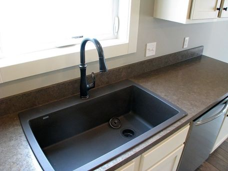 High rise faucet over sink