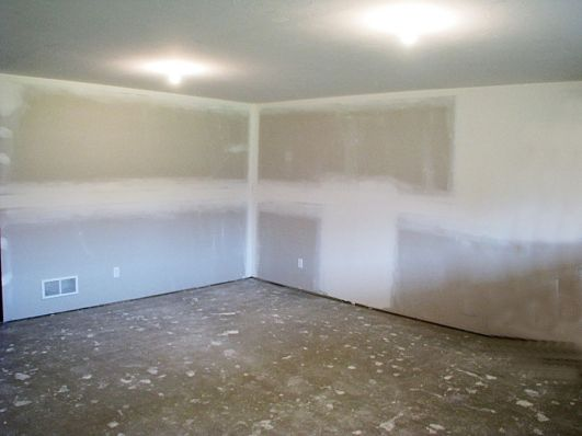 Lower level family room - roughed in