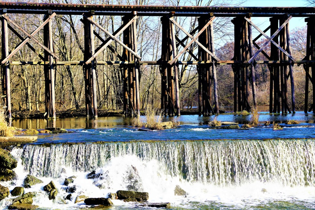 Hamilton MI Railway Trestle Bridge over Rabbit River