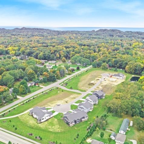 Laketown Crossings condos Holland MI aerial 401