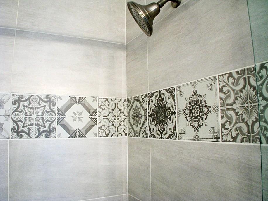 Master bath- decorative shower tile