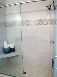 Master bath- tile shower seat