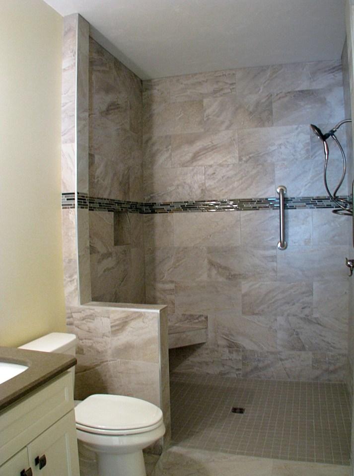 Tile walk in shower (2)