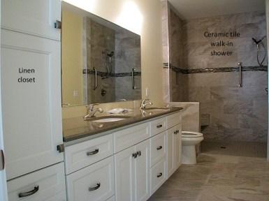 Tile walk in shower (4)