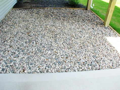 Stone under the covered deck