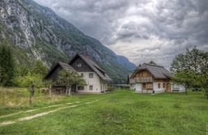 Town on Lake Bohinj