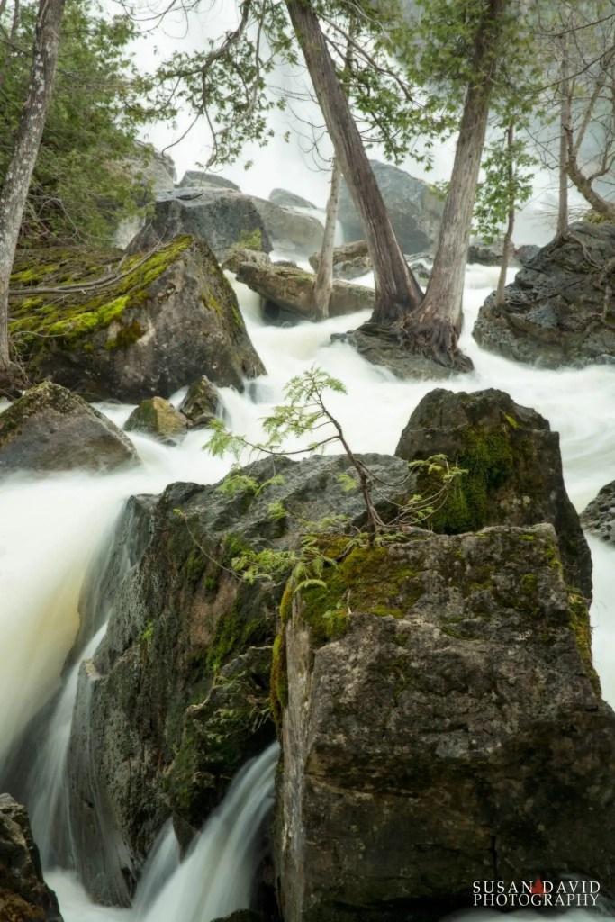 Rushing Water between the Rocks