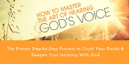 Image of hearing God's Voice course on Susan Gaddis website