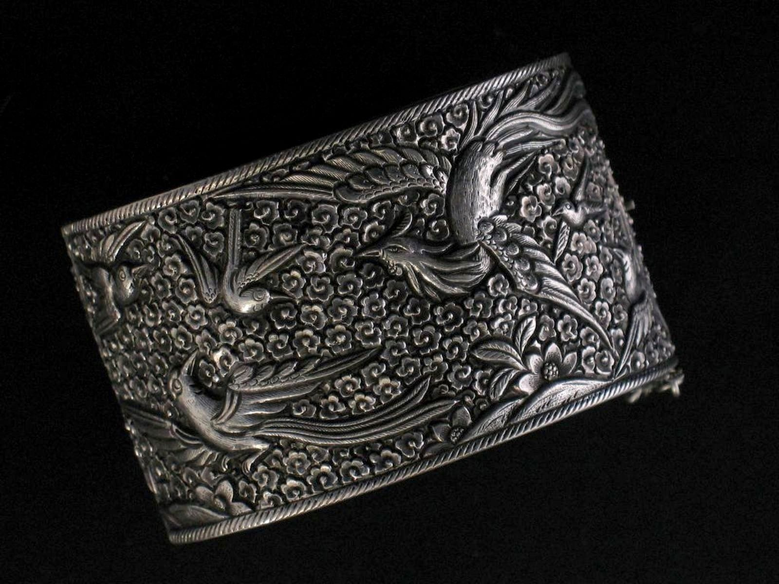 Chinese Silver He Xiangu Bracelet  PrivateCollection